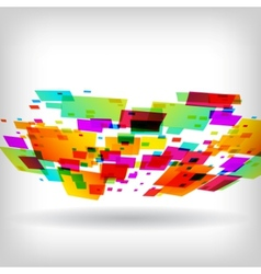 abstract square colorful background vector image