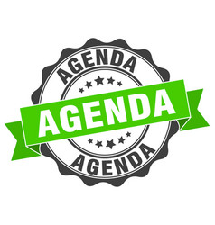 Agenda stamp sign seal vector