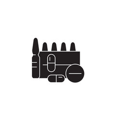 appointment of drugs black concept icon vector image