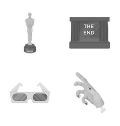 Award oscar movie screen 3d glasses films and vector