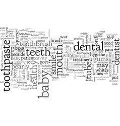 bawar on plaque attack teeth vector image