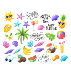 Beach party objects vector