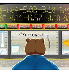 Bear market vector
