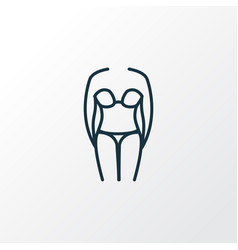 bikini icon line symbol premium quality isolated vector image