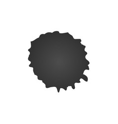 black ink paint spot drop texture isolated on vector image