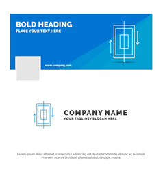 blue business logo template for sync vector image