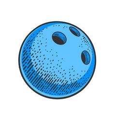 bowling ball sketch vector image
