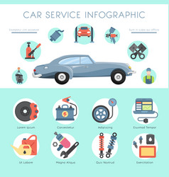 Car garage service infographic repair station vector