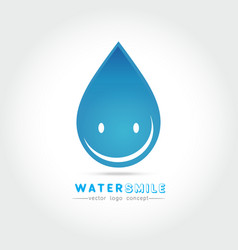 cartoon smile water drop character vector image