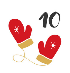 Christmas advent calendar hand drawn elements and vector