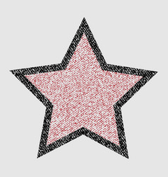 Crayons star on white background vector