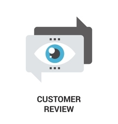 customer review icon vector image