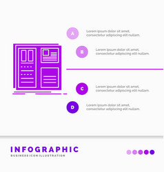 design grid interface layout ui infographics vector image