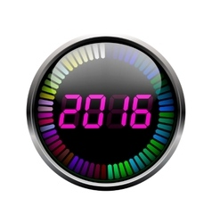 Digital year time art vector image