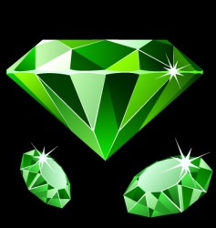 emerald vector image