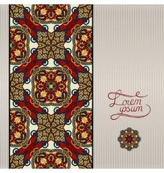 geometric background vintage ornamental design in vector image