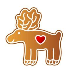 Gingerbread Elk vector image