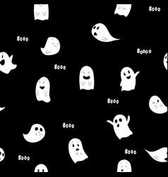 halloween spooky seamless pattern halloween vector image