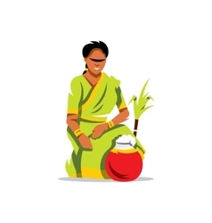 Happy Pongal Cartoon vector image