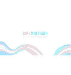 Header website abstract wave style simple design vector
