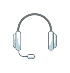Headset phone service call center business vector