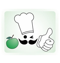 Healthy chef vector image