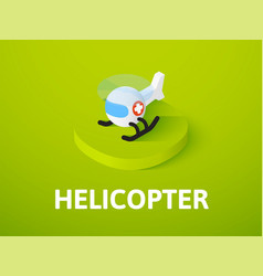 helicopter isometric icon isolated on color vector image