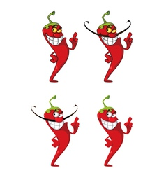 Hot pepper set vector