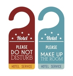 Hotel service tags hanging vector