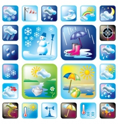 Icons meteo vector