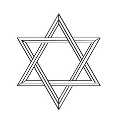 Isolated golden jewish star icon vector