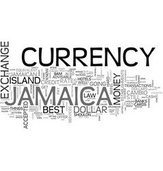 Jamaica currency text background word cloud vector