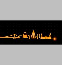 khartoum light streak skyline vector image