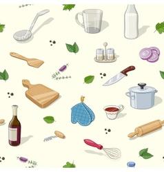 Kitchen utensils Seamless vector