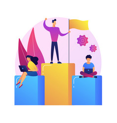 Leadership and success concept metaphor vector