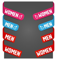 left and right side signs - men women vector image