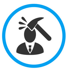 Manager shock rounded icon vector