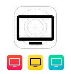Monitor screen icon vector image