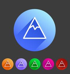 Mountain icon flat web sign symbol logo label set vector