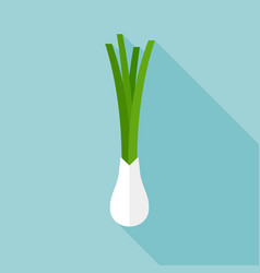 onion icon with long shadow vector image