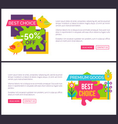 online horizontal banners premium adverts vector image