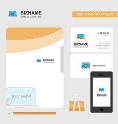 online shopping business logo file cover visiting vector image