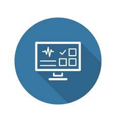 Online Survey Results and Medical Services Icon vector