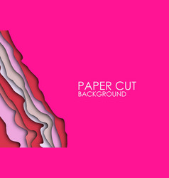 paper cut background abstract realistic paper vector image