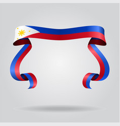 Philippines flag wavy ribbon background vector