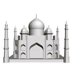 polygonal building model taj mahal 3d vector image