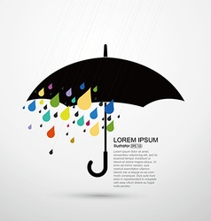 Rain and umbrella abstract vector