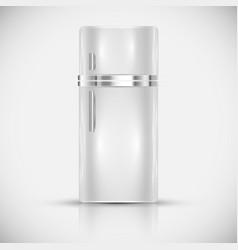 realistic white fridge vector image