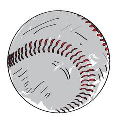 retro baseball ball vector image