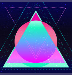 retro futurism vintage 80s or 90s geometric style vector image